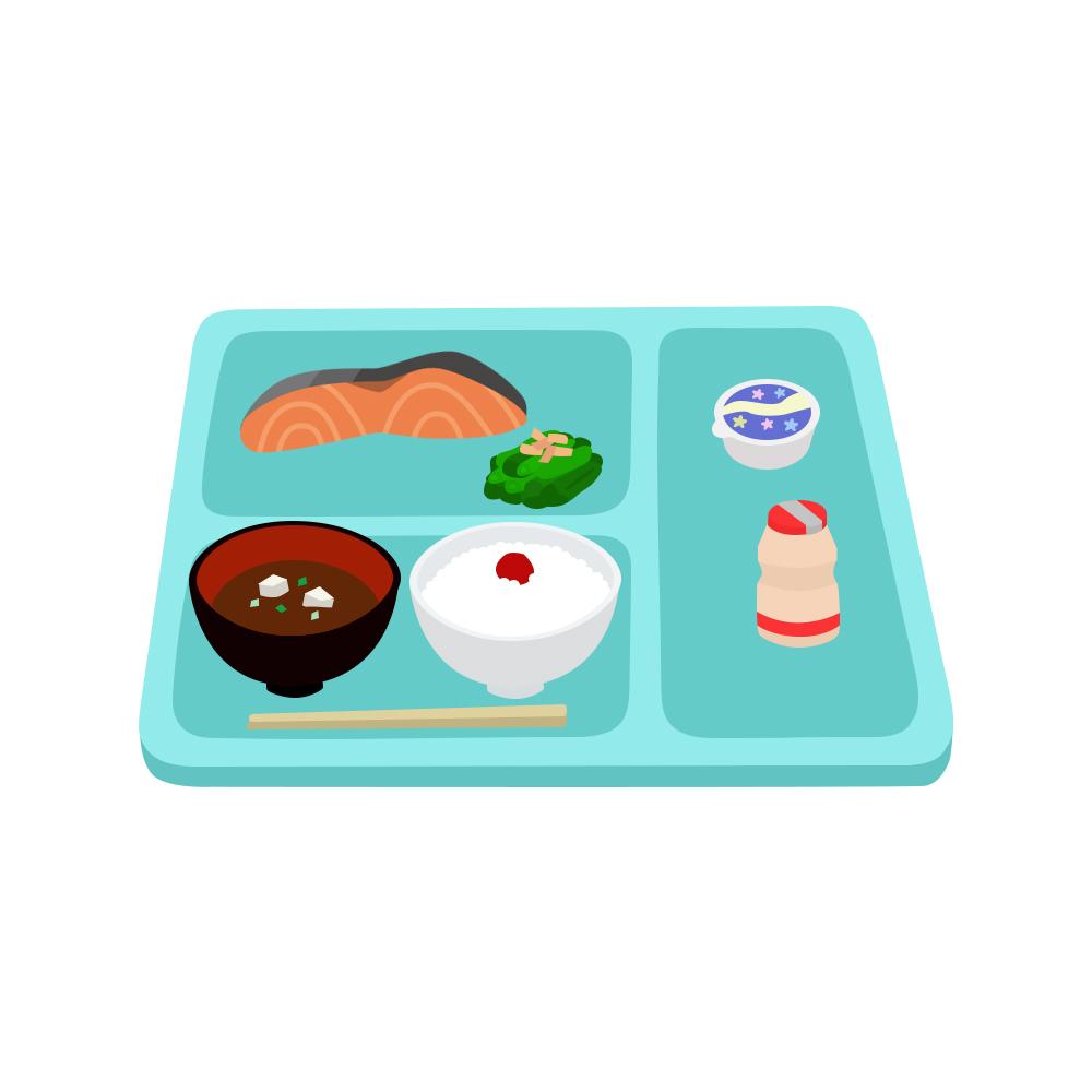 病院食のイラスト